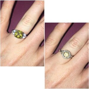TWO COSTUME RINGS Both Size 5